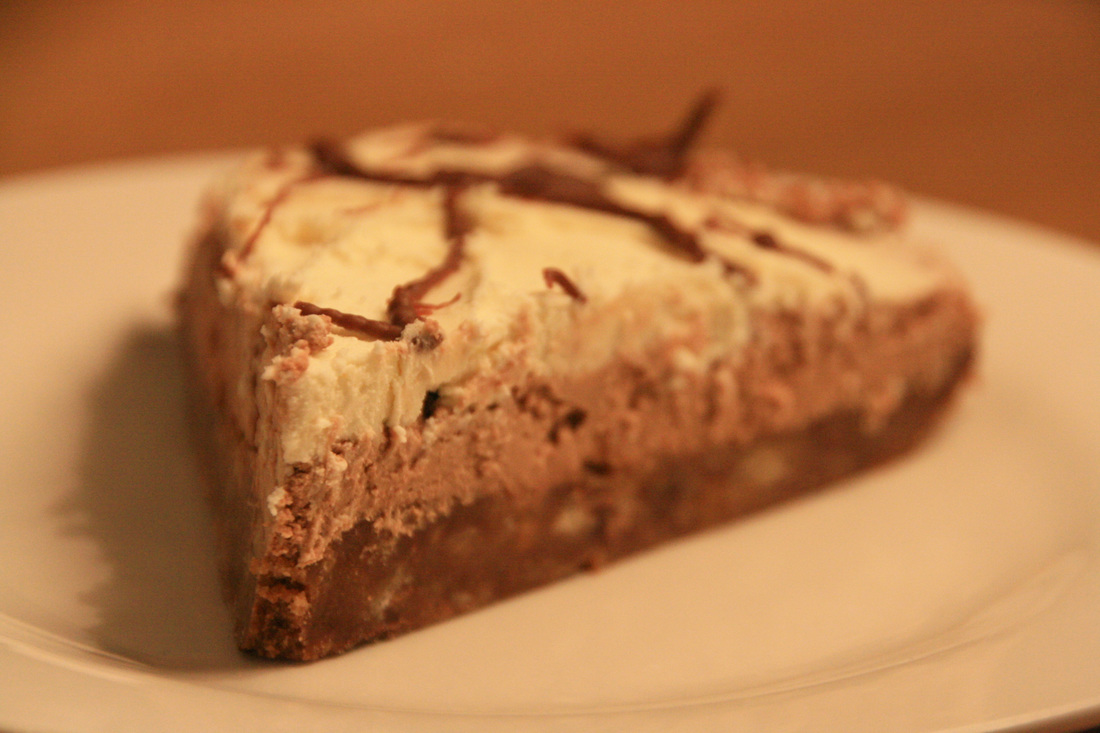 Double Decker No Cook Chocolate Cheesecake