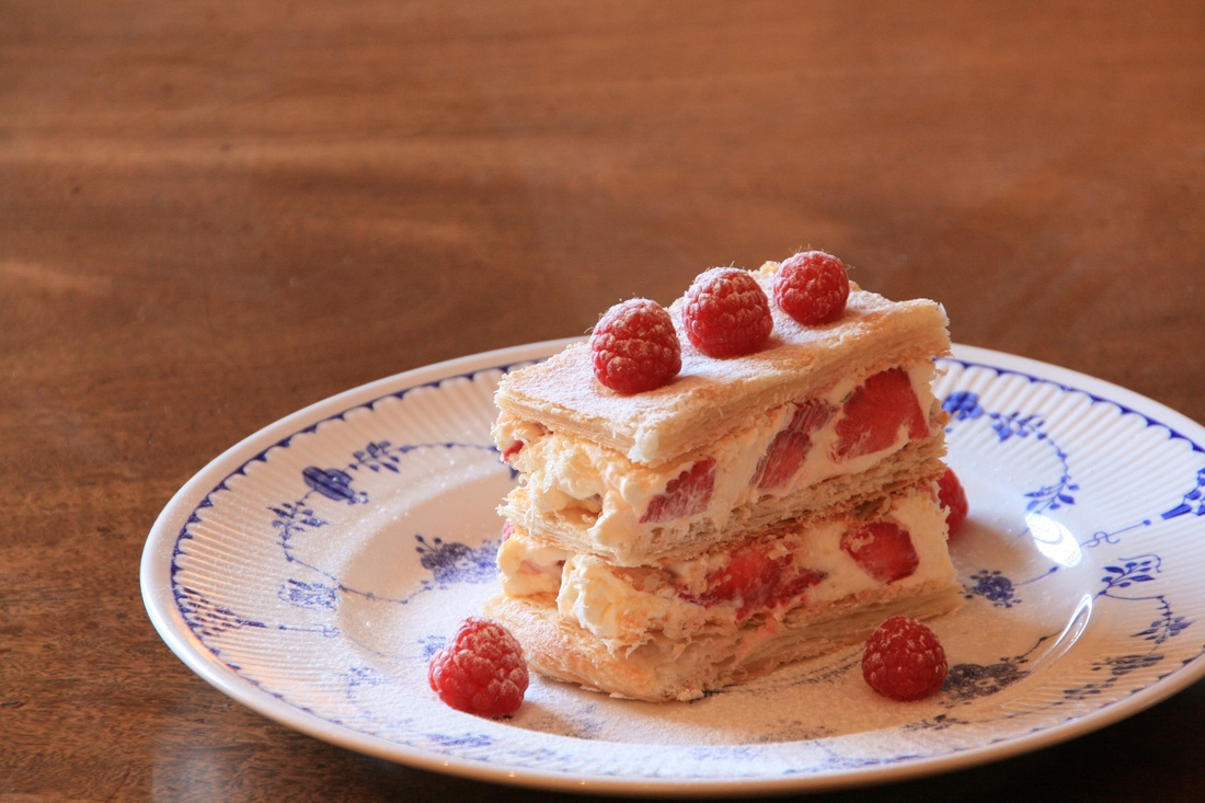 White Chocolate and Strawberry Millefeuille