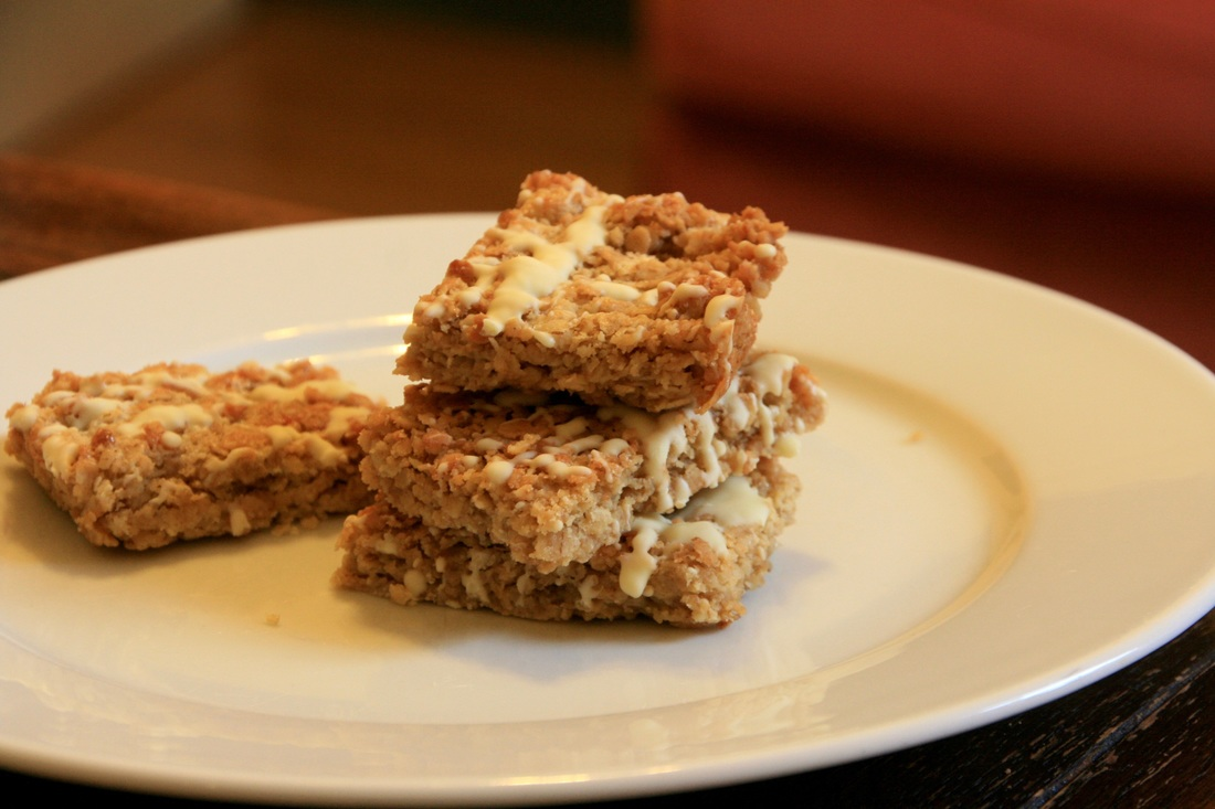 Easy White Chocolate Flapjacks