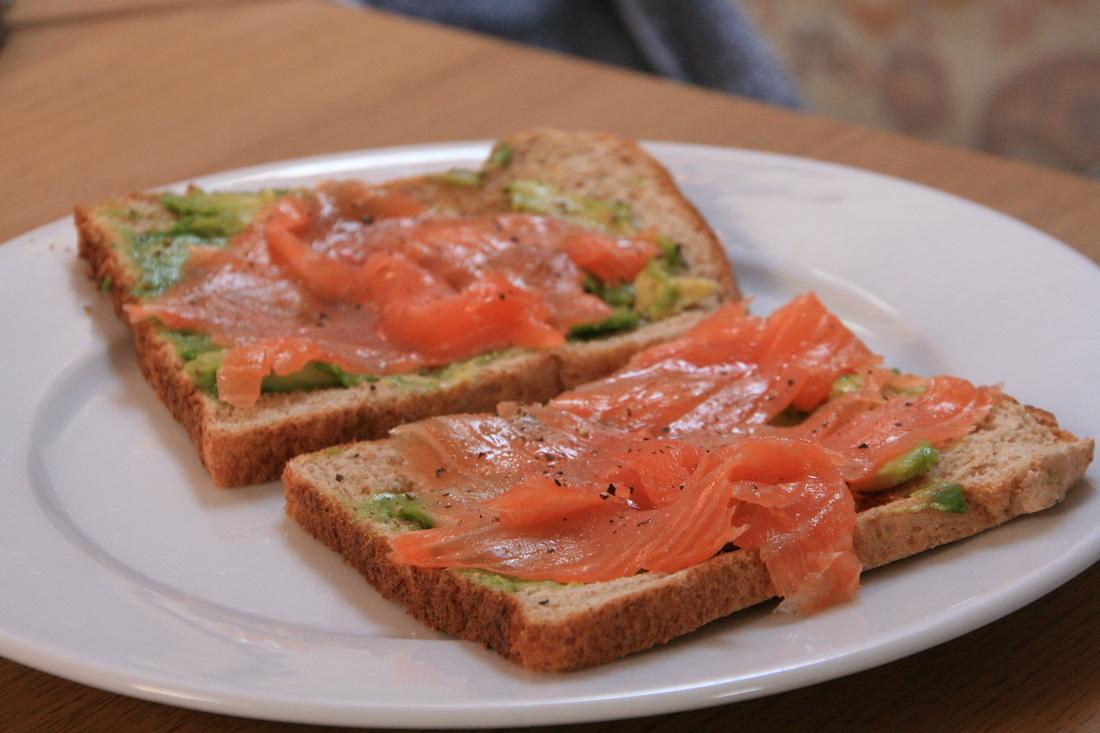 Smoked Salmon and Avocado Summer Open Sandwich