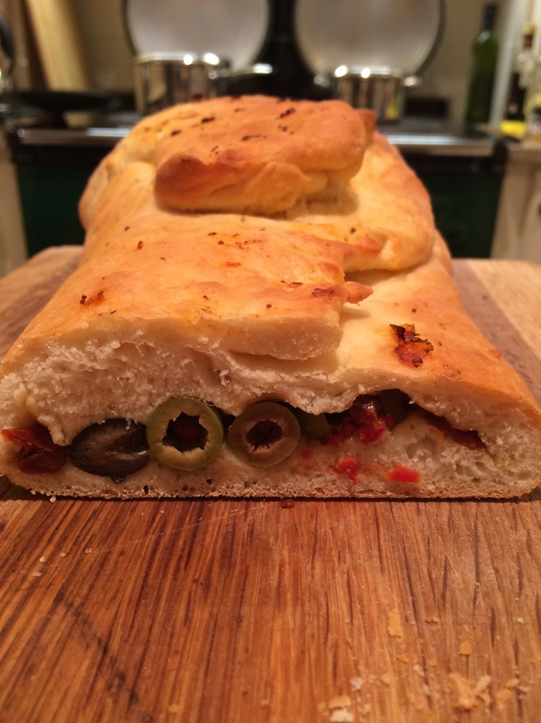 Olive, Basil and Sun Dried Tomato Bread